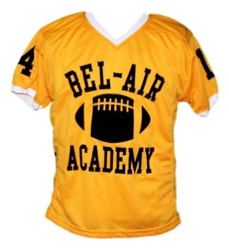 buy popular be630 34adc Will Smith #14 Bel-Air Academy Men Football Jersey Yellow New Any Size