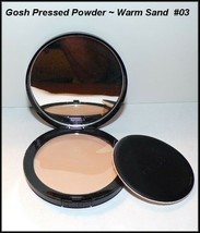 "NEW ""Gosh"" Pressed Face Powder 03 Warm Sand Made In Denmark - $8.75"