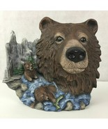 3D Art Brown Bear Family Scene Sculpture Statue Standing Desk Decor 10 x... - $66.97