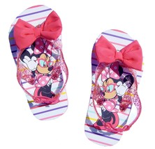MINNIE MOUSE Girls Flip Flops w/Optional Sunglasses Toddlers Beach Sanda... - $9.99