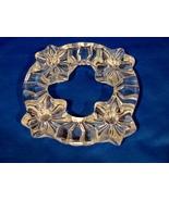 Swedish Nybro Crystal Christmas Wreath Candleholder  - $9.90