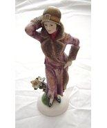 1920's Art Deco Style Ladies Fashions Figurine Fur Trimmed Coat - $49.99