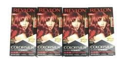 Revlon Colorsilk Buttercream Hair Dye Intense Red 55RR - Lot of 4 Boxes New - $54.45