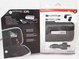8 PC LOT - NINTENDO 3DS EXPLORER STARTER KIT BLACK CASE EAR BUDS CAR CHA... - $6.88