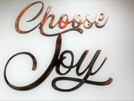 "Choose Joy Metal Wall Art Accent Copper/Bronze 12"" x 10 1/2"" - $22.76"