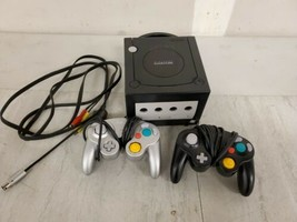 Nintendo GameCube Black System Console 2 Controllers and All Cables READ!!! - $59.39