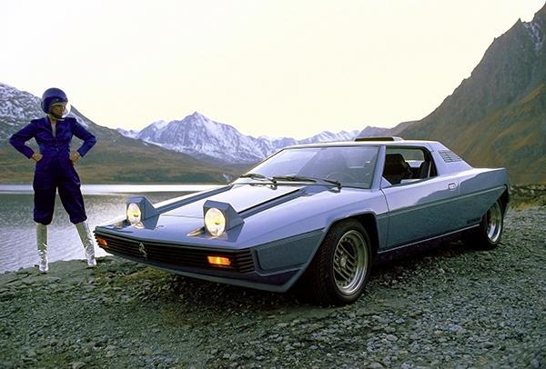 Primary image for 1976 Ferrari 308 GT Rainbow Concept Car - Promotional Photo Poster