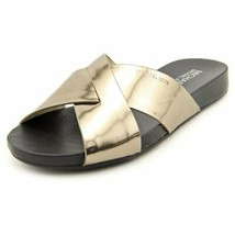 Michael Kors Women's Somerly Leather Slide Sandals-N-5.5M - $59.37