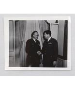 1960s 1970s Photograph Air Force Chaplain Shaking Hands Genealogy Gregor... - $19.99
