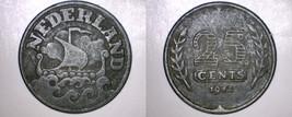 1942 Netherlands 25 Cent World Coin - $14.99