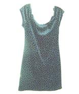 Sz M - Arizona Blue Mini Floral Print 100% Polyester Crushed Velvet Dress - $18.99