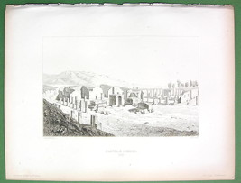 ITALY Pompei Perspective View of Forum - Antique Print Engraving - $6.74
