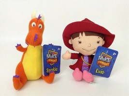 Mike The Knight Sparkie Dragon and Evie Plush with Tags Mattel Fisher Price 2012 - $10.84