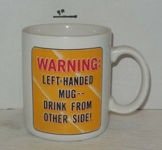 Coffee Mug Cup Funny Humorous about being Left Handed Ceramic hallmark - $9.50
