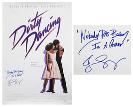 Jennifer Grey Signed Dirty Dancing F/S Poster w/Nobody Puts Baby In A Co... - $345.51