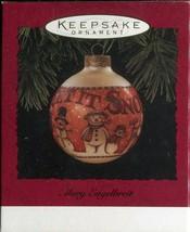 1994 Hallmark Keepsake Ornament - Mary Engelbreit - Let it Snow Glass Ball - $3.95