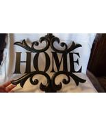 "Hanging Black Metal HOME Sign with Fleur De Lis Black 15.5"" Square - $35.64"