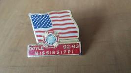 "Doyle Mississippi Honor Guard 92-93 U S Flag Lapel Pin 1 1/4""  x 1"" - $12.86"