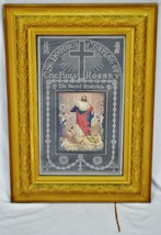 Rare Antique Religious Artwork Display Cabinet with Scrolling Mechanism  image 2