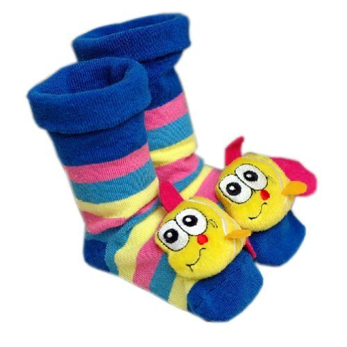 FISH Toddler Anti Slip Skid Shocks Baby Stockings Newborn Infant Shoes 2 pack