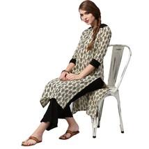 Latest Fashion Top KurtisEthnic Cotton Floral Print Kurta Casual Tunic B... - €33,37 EUR