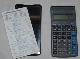 Texas Instruments TI-30X Calculator Works w/ Quick Reference Card - $28.75
