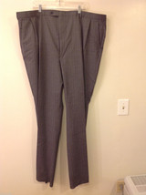 Adolfo Big and Tall 2-Piece Suit Set Intermediate Charcoal Gray with Pinstripes image 2
