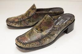 Stuart Weitzman Size 7.5 Brown Snake Pattern Mules - $56.00