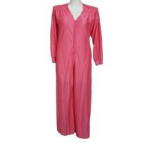 Vintage JCPenney Size L Pink Loungewear Hostess Wide Leg Palazzo Jumpsuit - $70.11