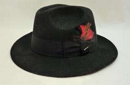 Scala Mans Size 7.5 Fedora Black Classico Wool - $46.45