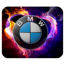 Mouse Pad BMW Logo With Rainbow Smoke Design Luxury Sport Car For Game Fantasy - $9.00