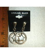 VTG STERLING SILVER WESTERN STAR DANGLE EARRING BEFORE DIAMONIQUE NECKLA... - $367.99