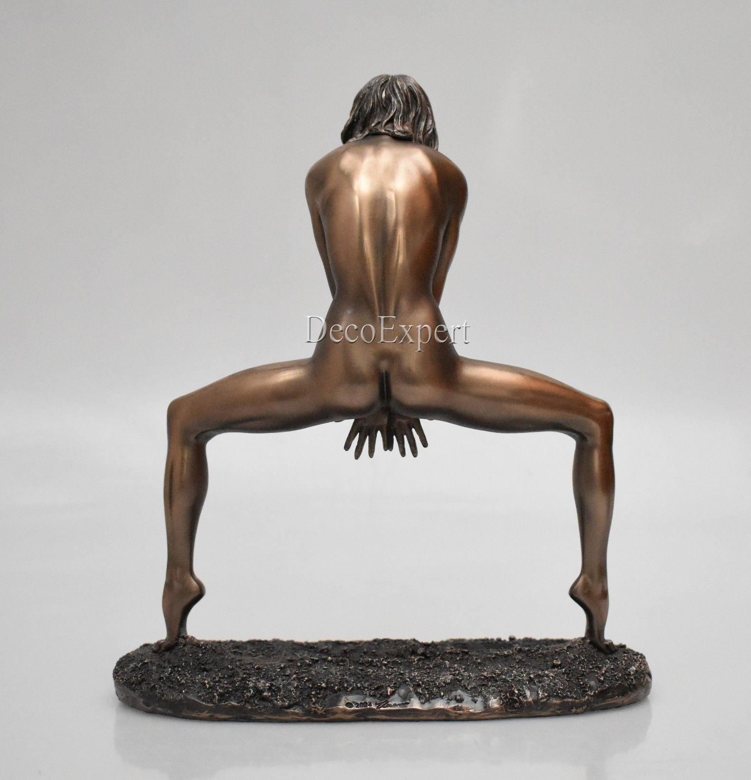 Naked woman standing astride Bronze Sculpture * Free Shipping Everywhere *