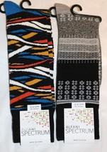 Alfani Spectrum Mens 2 Pair Tonal Modern Fair Isle Stained Glass Crew Socks NEW - $9.85
