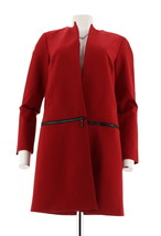 Kelly Clinton Kelly Open Front Zip-Off Ponte Long Slv Jacket Chile M NEW... - $55.42