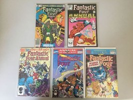 Lot of 5 Fantastic Four (1961 1st Series) Annual #16 17 18 24 25 VF Very... - $17.82