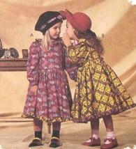 McCalls Sewing Pattern 6307 Girls Long Sleeve Dress Ruffles Mousefeather... - $6.95