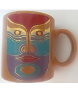 Laurel Burch Machado Coffee Mug Golden Brown Made in Japan Unique Special - $18.53