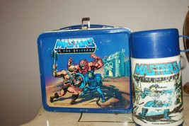 *VINTAGE* MASTERS OF THE UNIVERSE LUNCH BOX WITH THERMOS - $30.00
