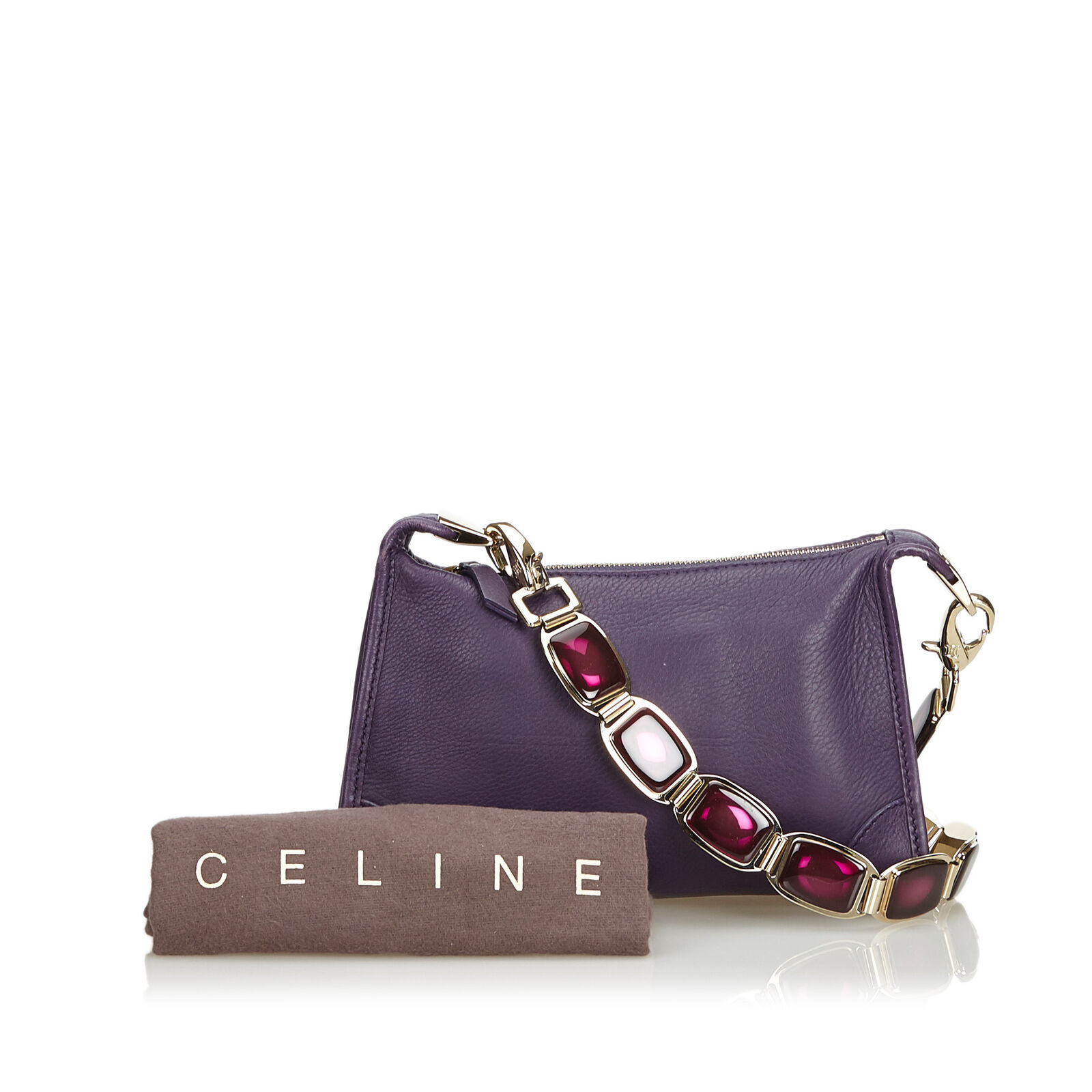 Pre-Loved Celine Purple Others Leather Shoulder Bag France