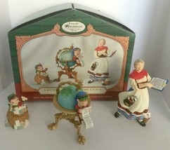 2001 Hallmark Lettera Globus Mrs Claus Club Exclusive 3 Pcs Christmas Or... - £7.64 GBP