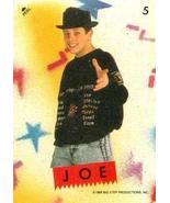 Joey McIntyre trading card sticker (New Kids on the Block) 1989 Topps #5 - $4.00
