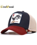Animal cock embroidery baseball cap breathable cartoon duck grid summer ... - $11.62