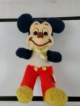 Vintage Mickey Mouse White Chest Stuffed Plush Walt Disney California To... - $19.34