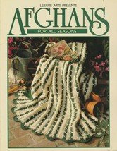 "Soft Covered Book - ""Afghans For All Seasons"" - Leisure Arts - Gently Used - $18.00"