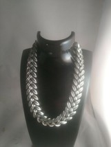 Vintage Coro Silvertone Leaf Design Choker/Necklace - $18.70