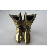 Solid Brass Boots Paperweight Washington's Headquarters Valley Forge, PA... - $14.01