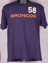 Von Miller 58 Denver Broncos Shirt-Blue-L-NFL Football-Reebok-Tee-Super Bowl MVP - $18.69