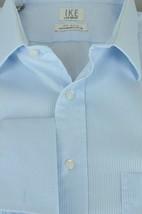Ike Behar IKE-EZE Men's Arctic Blue Striped Cotton Dress Shirt 16.5 x 35 - $22.49