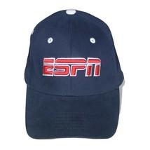 ESPN Logo Navy Blue One Fit Flex Fitted Hat TV Baseball Cap - $19.95